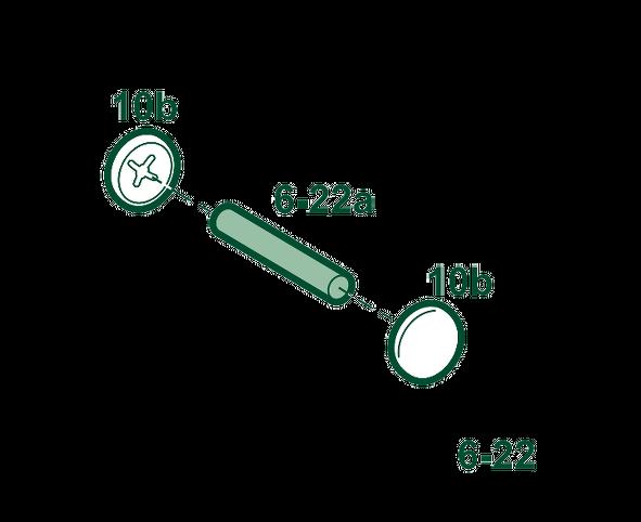 Pièce n° 6-22 ensemble axe glissière pour Attalink 6A 2B